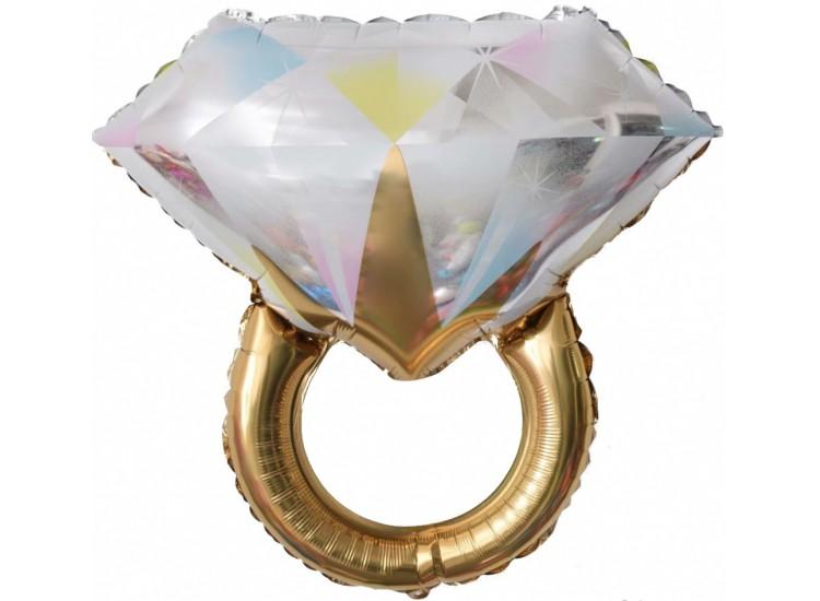 (27-69 см Кольцо с бриллиантом) Золото