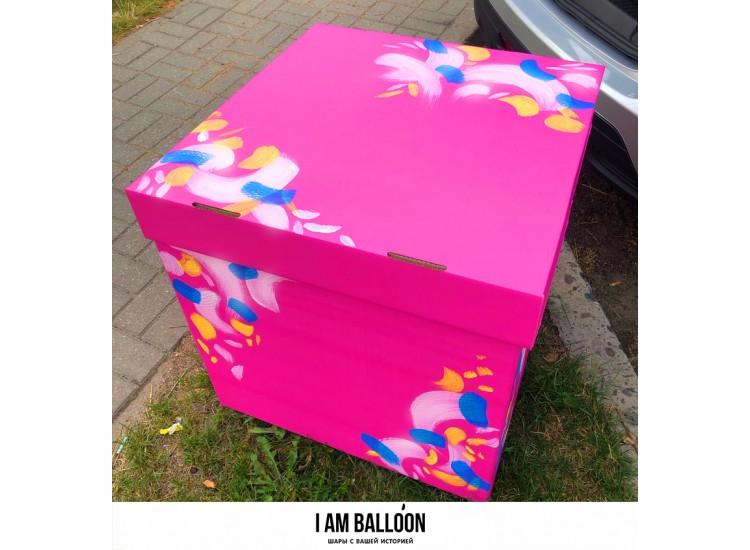 Коробка 60см-60 см цветная с декором