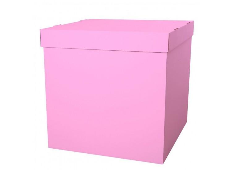 Коробка для шаров розовая 60 см - 60 см