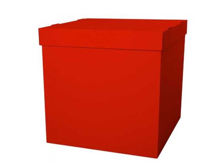 коробка для шаров красная 60 см- 60 см