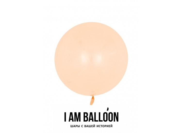Шар (18-46 см) Сфера 3D, Deco Bubble, Оранжевый, Кристалл