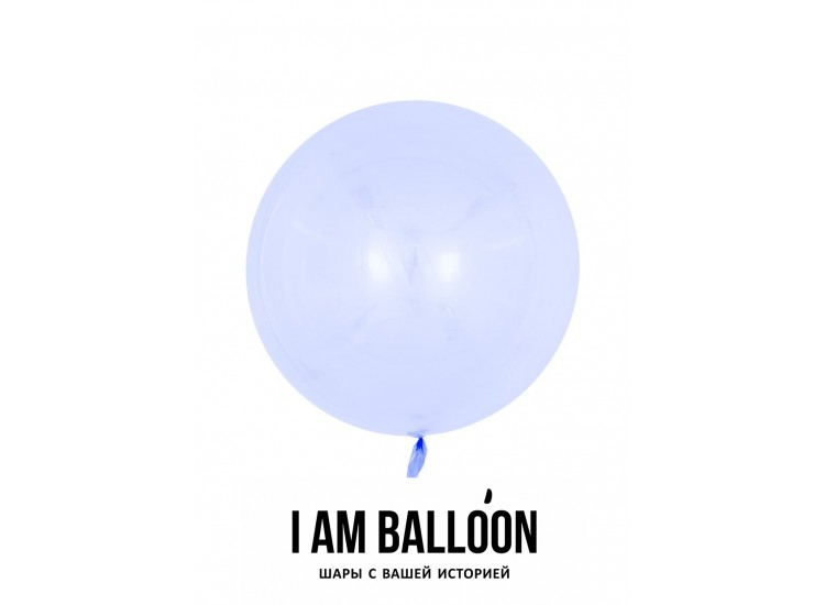 Шар (18-46 см) Сфера 3D, Deco Bubble, Сиреневый, Кристалл