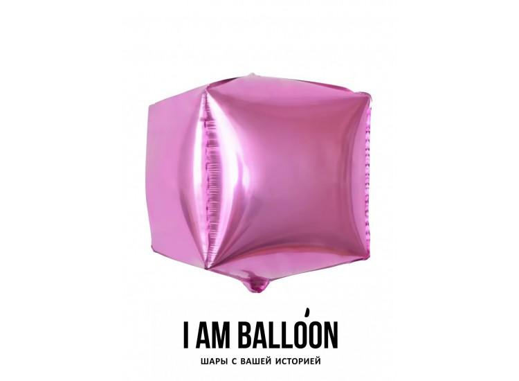 Шар (24-61 см) Куб, Розовый