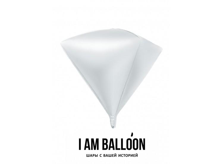 Шар (27-69 см) Алмаз, Белый