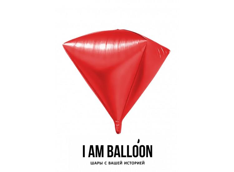 Шар (27-69 см) Алмаз, Красный