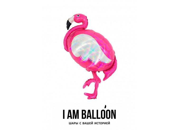 60см Х 100см шар фольга Фламинго голография